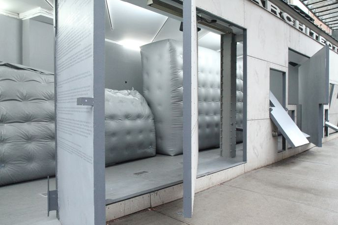 JB1.0: Jamming Bodies Laboratory, 2015 by Lucy McRae and Skylar Tibbits with MIT's Self-Assembly Lab at Storefront for Art and Architecture, New York