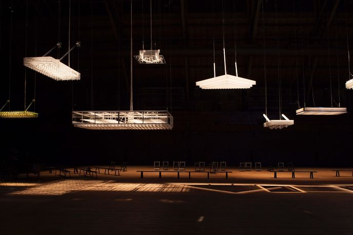 Danny The Street, exhibited at 'Hypothesis' by Philippe Parreno, HangarBicocca, Milan, photography by Andrea Rossetti