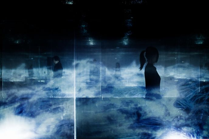Black Waves in Infinity by teamLab, Silicon Valley