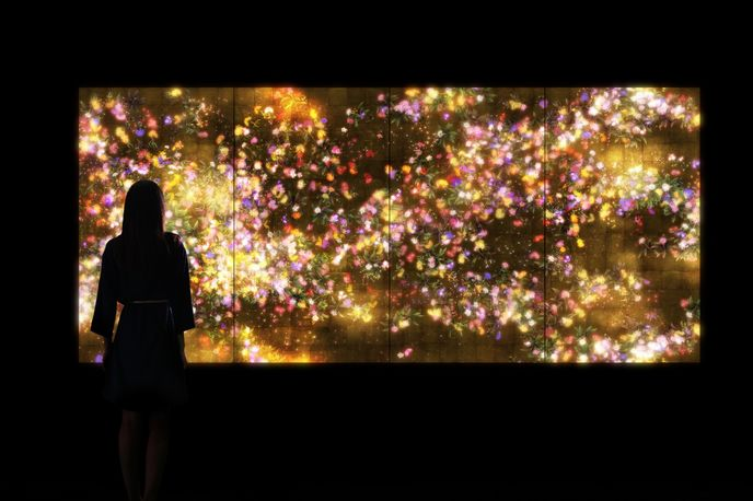 Flowers and People by teamLab, Silicon Valley