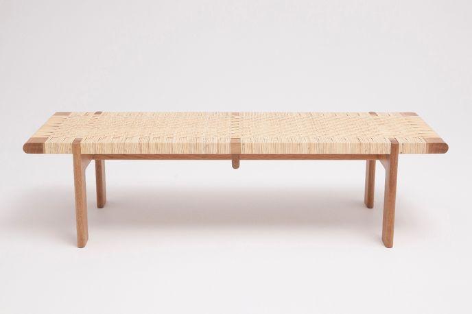 Rattan Bench by Thom Fougere Studio at Stockholm Design Week, Sweden