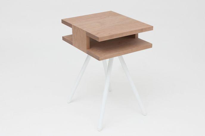 Steel Wood Table by Thom Fougere Studio at Stockholm Design Week, Sweden
