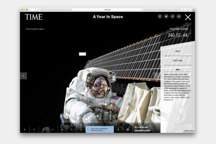 A Year in Space by Lexus and Time, US