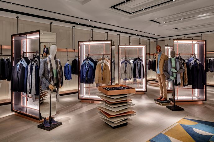 Harvey Nichols menswear department, London