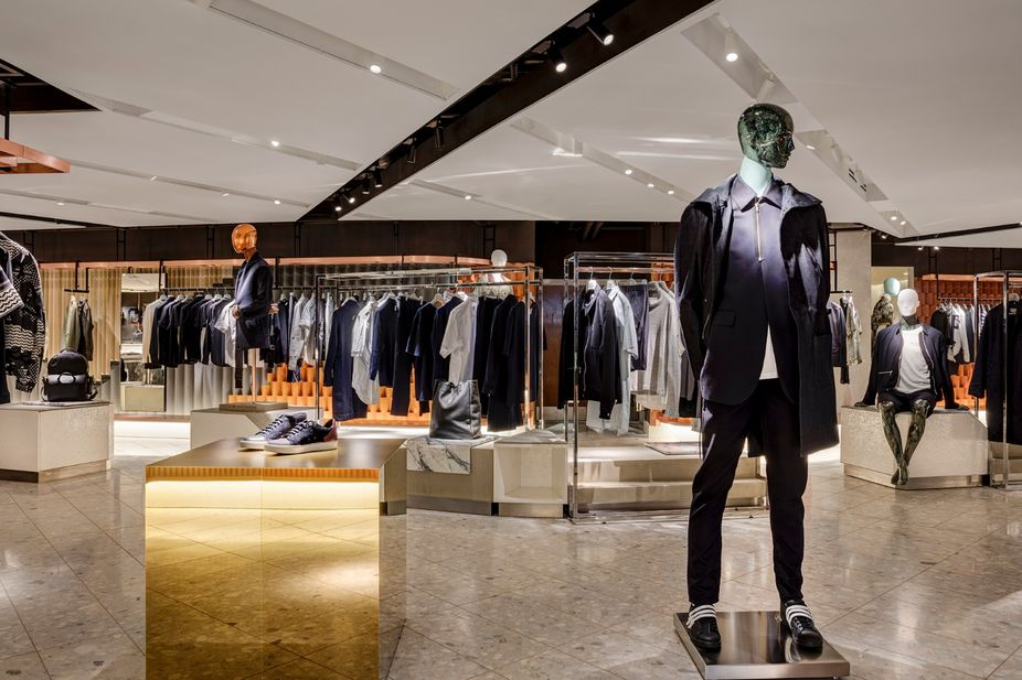 f9fa5a2e9 Harvey Nichols menswear department, London