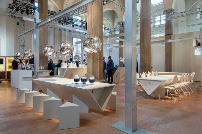 The Restaurant by Caeserstone and Tom Dixon in collaboration with Arabeschi di Latte, Milan