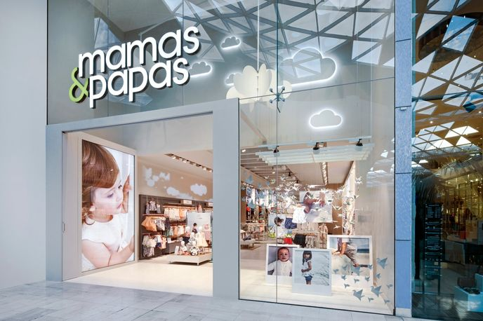 Mamas & Papas designed by Dalziel and Pow, London