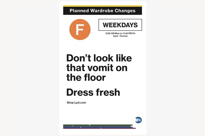 Planned Wardrobe Changes campaign by Lyst, New York