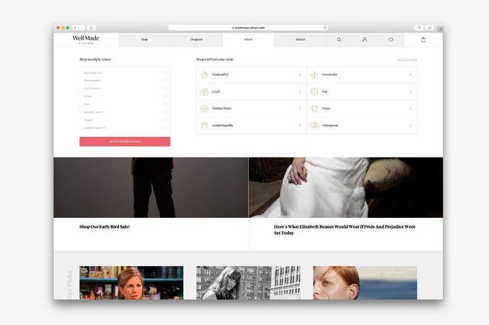 Well Made Clothing website, Australia