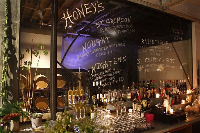Honey's tasting bar by Enlightenment Wines, New York
