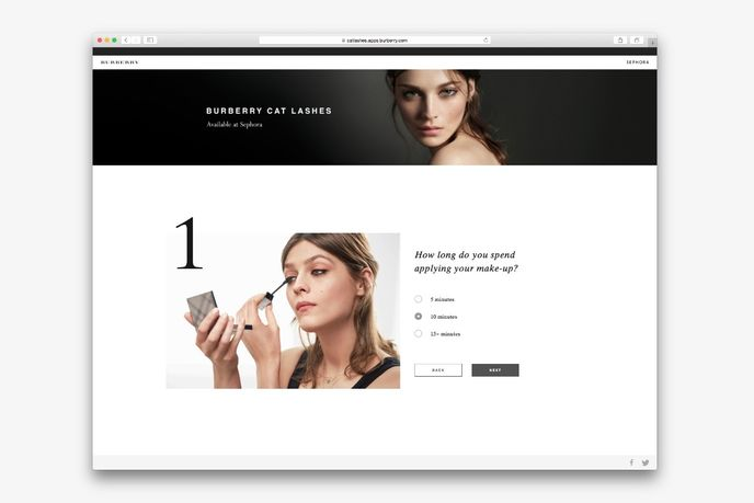 Cat Lashes Mascara  website by Burberry, Global