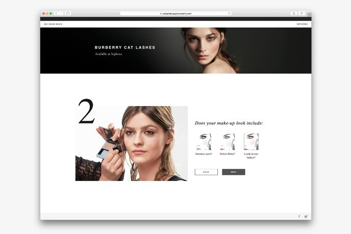 Cat Lashes Mascara pinterest campaign by Burberry, Global