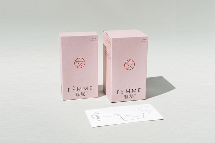 Fémme packaging by Pearlfisher