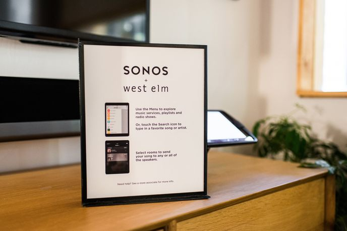 Sonos Listening Room in West Elm, US