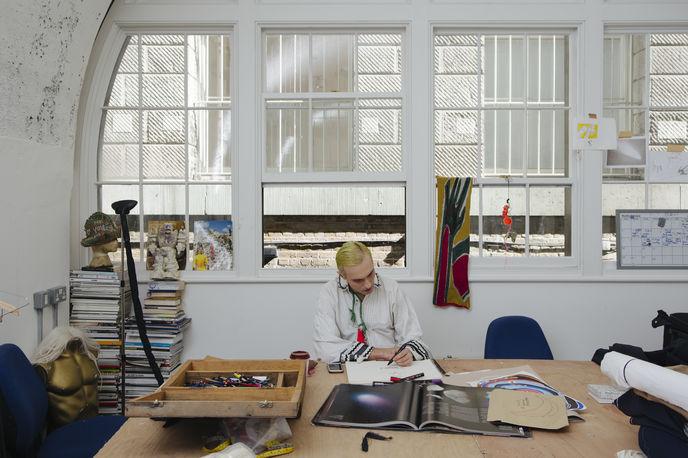 Charles Jeffrey, Somerset House Studios, Image by Dan Wilton