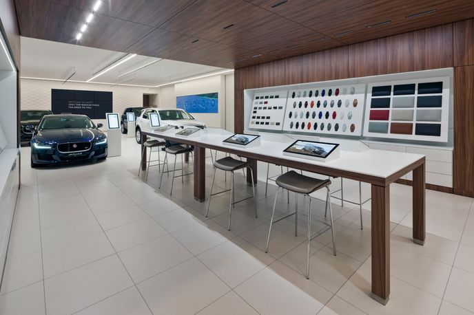 Jaguar Land Rover digital showroom by Dalziel and Pow and Rockar, London