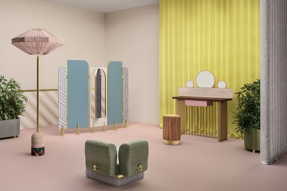 LSN News Design Miami Preview Fendi Made Fun Classy Fendi Bedroom Furniture Creative Painting