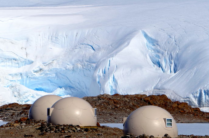 Whichaway Camp by White Desert, Antartica
