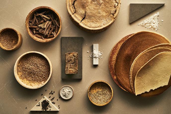 A Material Menu: Designs for the Culinary Aesthetic by Caesarstone and Arabeschi di Latte, UK.