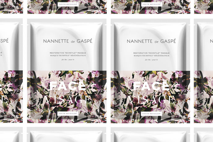 Nannette de Gaspé waterless face mask, Canada