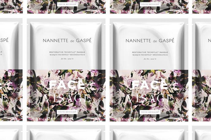 Nannette de Gaspé waterless face mask, Canada