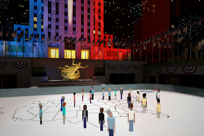 Democracy Plaza by NBC and AltSpaceVR, US