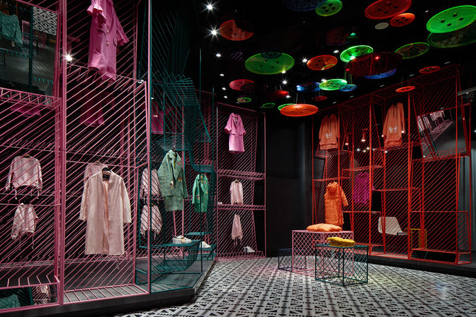 JOOOS Fitting Room by X+Living, China. Photography by Shao Feng