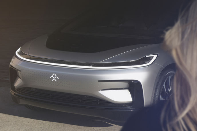 FF 91 car by Faraday Future, Las Vegas