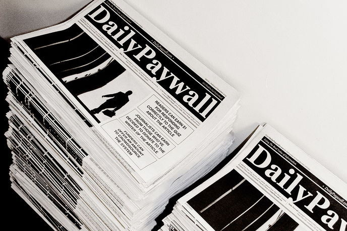 Daily Paywall by Paolo Cirio at How Much of This is Fiction, Liverpool