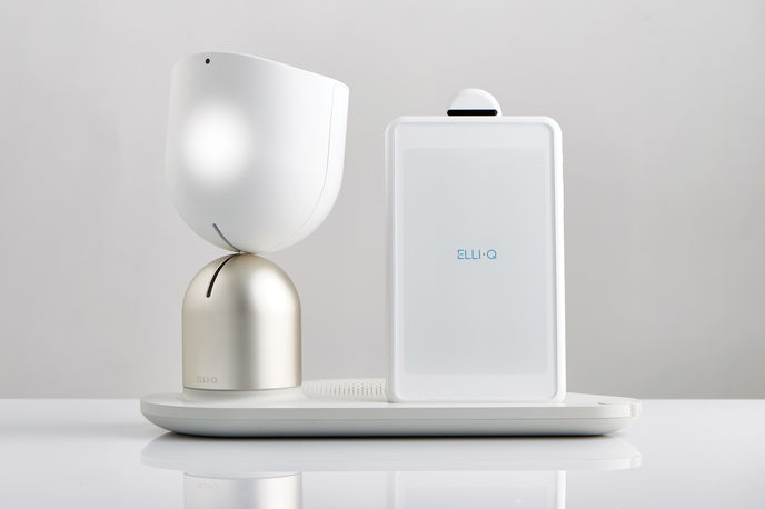 ElliQ by Intuition Robotics as part of New Old at The Design Museum, London