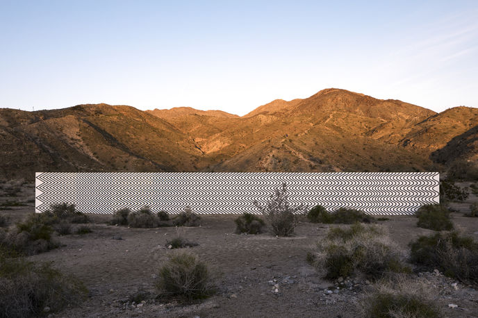 Curves and Zigzags by Claudia Comte for Desert X, California. Photography by Lance Gerber