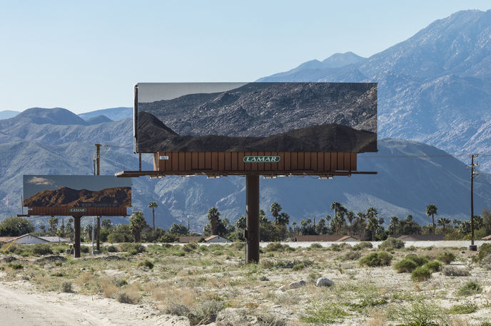 Visible Distance by Jennifer Bolande for Desert X, California. Photography by Lance Gerber