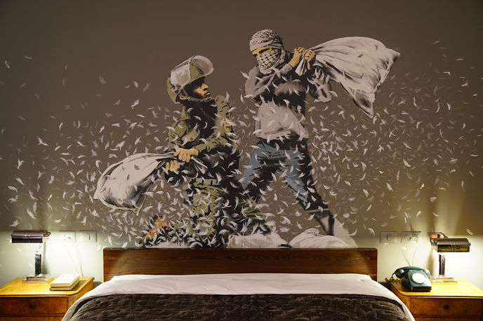 The Walled Off Hotel by Banksy, Palestine
