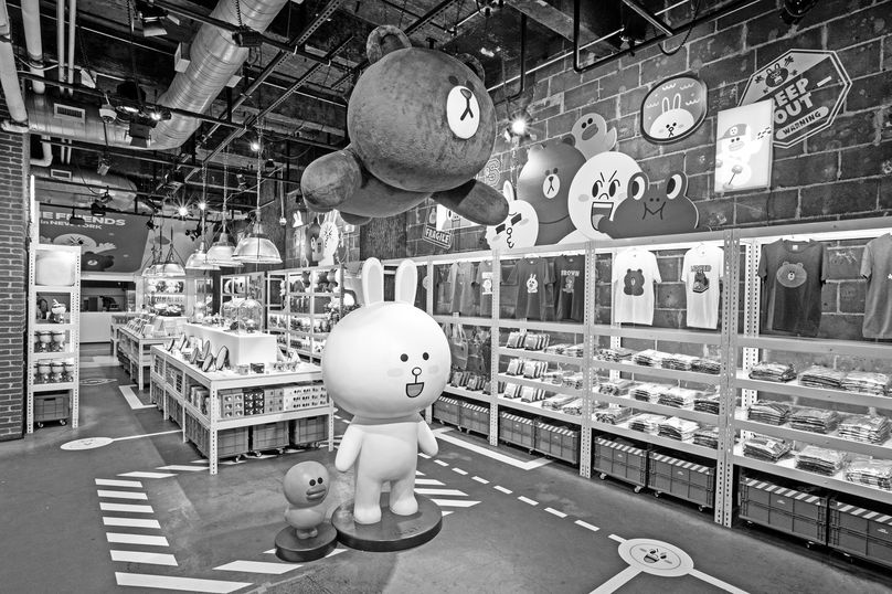 Line Friends pop-up store, New York