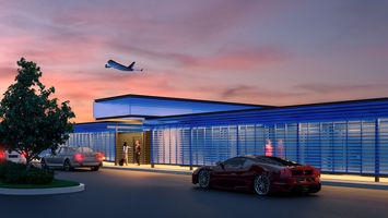 This private luxury airport terminal is for the super-rich