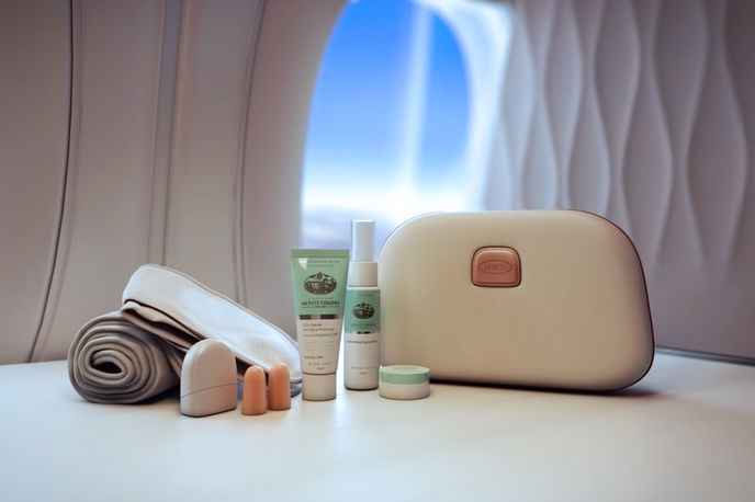 Qatar Airways sleep kit