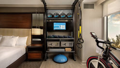 Hilton introduces gym equipment in rooms