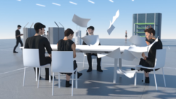 Workbays Village imagines the future workplace as a 3D animation
