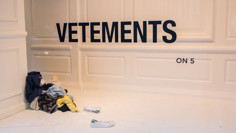 Vetements window at Saks Fifth Avenue, New York
