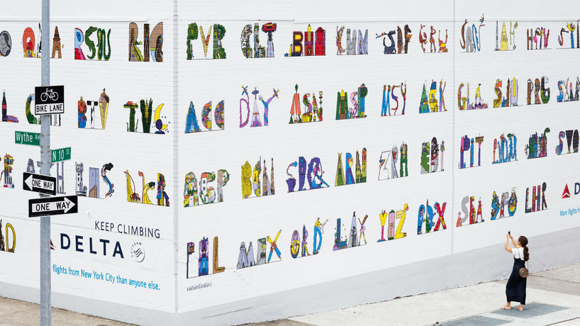 Airport Codes by Wieden & Kennedy for Delta, New York