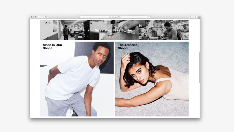 American Apparel website