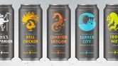 2. A new range of beer cans tell an intriguing story
