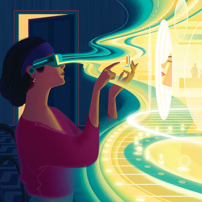 Illustration by Sam Chivers for Beauty Inc, The Next Dimension issue