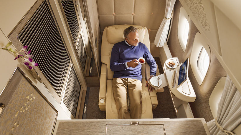 Boeing 777 first-class private suites by Emirates, UAE