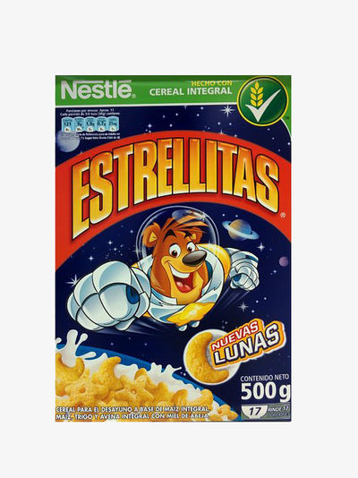 Estrellitas packaging before the regulations