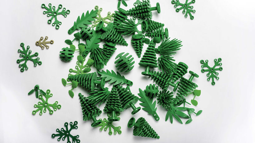 Bioplastic botanical elements by Lego, Denmark