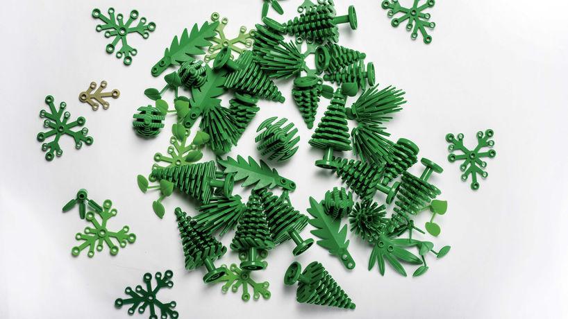 Bioplastic botanical elements by Lego, Denmark