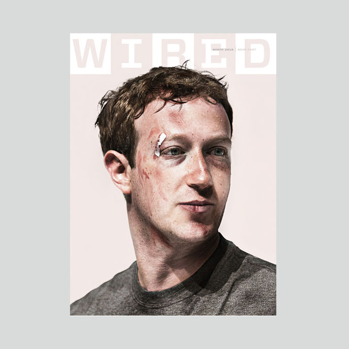 Wired magazine March 2018 issue. Illustration by Jake Rowland