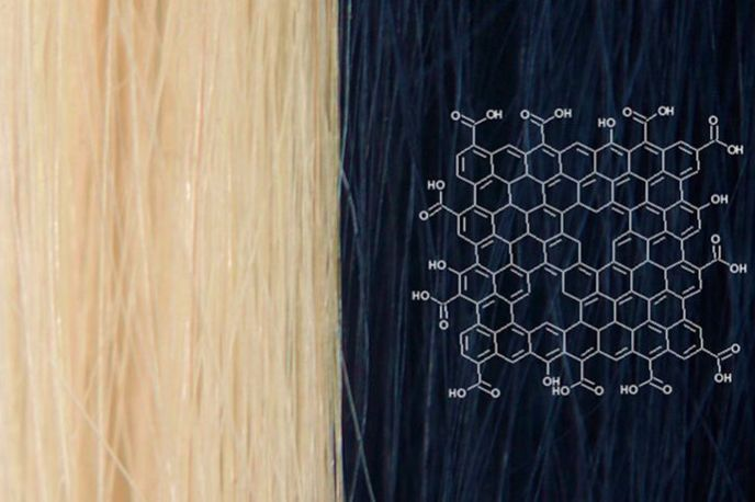 Graphene-based hair dye