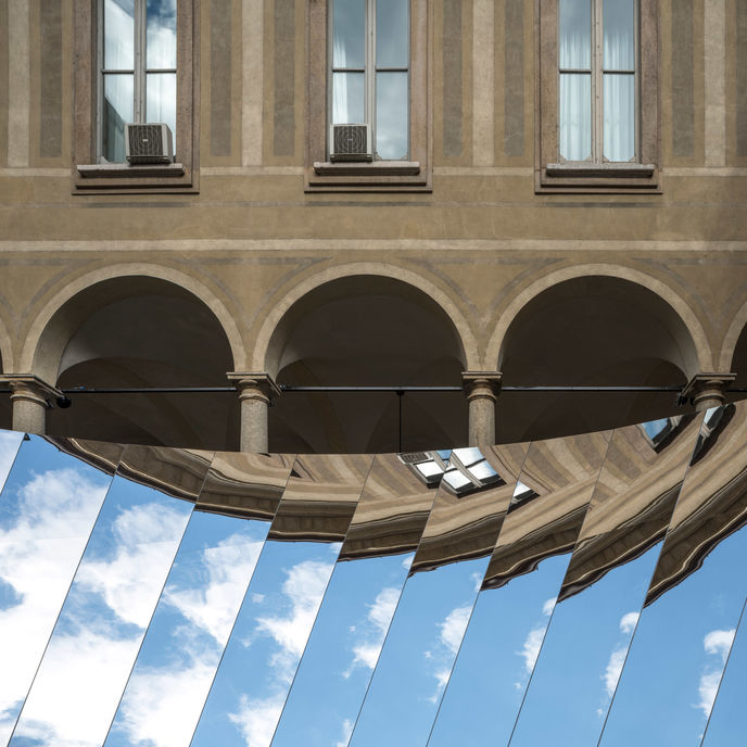 Open Sky by Phillip K. Smith and COS, Milan 2018